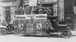 The Communist Party (KPD) capaigning on the street of Essen in 1925.